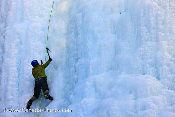 Photo: Ice Climbing Blue Ice Banff National Park