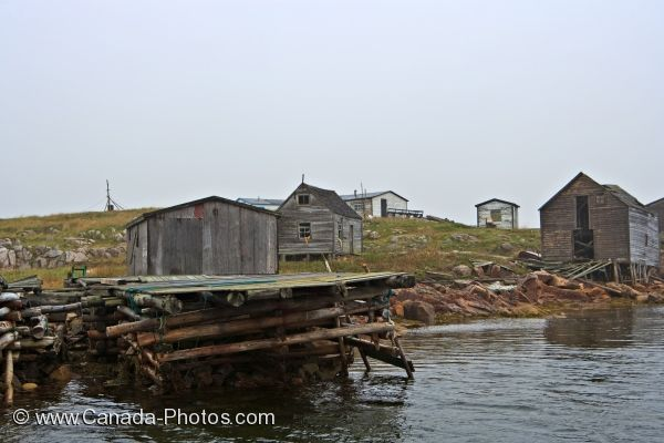 Photo: Indian Cove Fishing Stages Southern Labrador