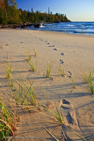 Photo: Katherine Cove Beach Footprints Lake Superior Ontario