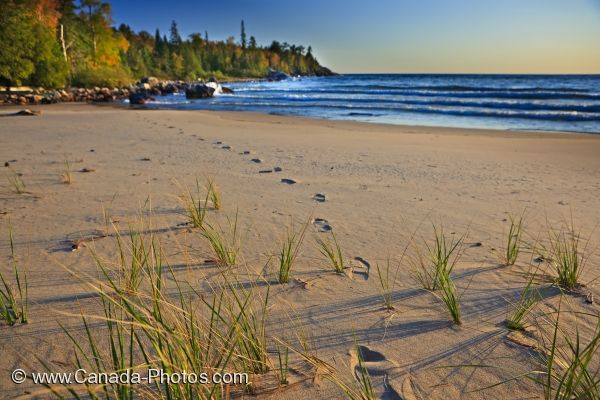 Photo: Katherine Cove Footprints Lake Superior Ontario