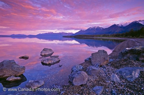 Photo: Pristine Kluane Lake Sunset Yukon