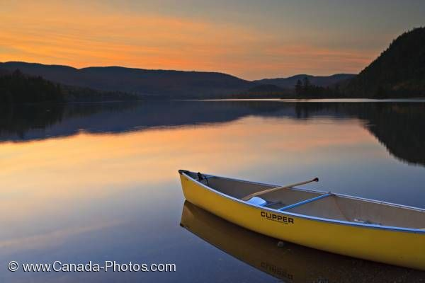 Photo: Lac Monroe Sunset Canoe