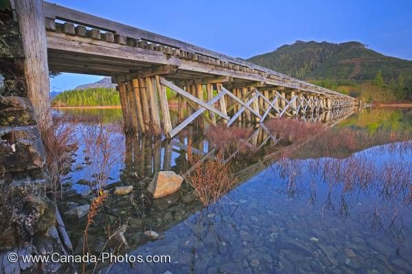 Photo: Kennedy Lake Bridge Vancouver Island