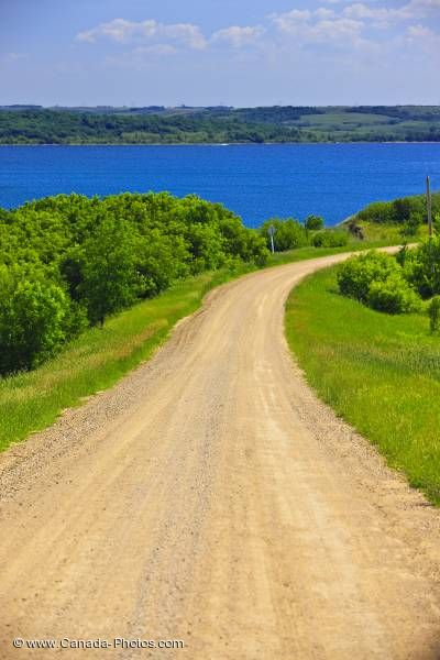 Photo: Last Mountain Lake Gravel Road Qu Appelle Valley Saskatchewan