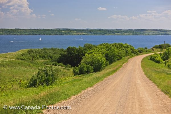 Photo: Last Mountain Lake Shoreline Road Saskatchewan Canada