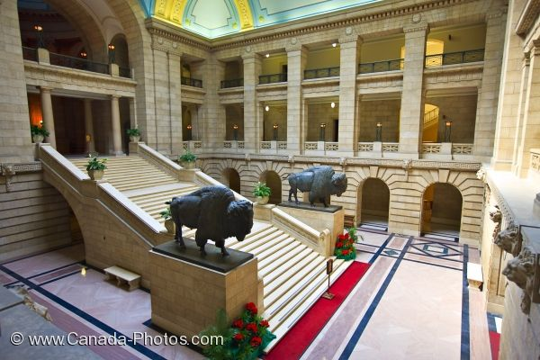 Photo: Legislative Building Grand Staircase Winnipeg City Manitoba