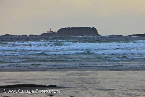 Photo: Lennard Island Lighthouse Stormy Waters Tofino