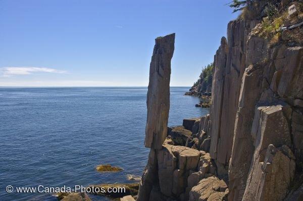 Photo: Long Island Balancing Rock St Marys Bay Nova Scotia