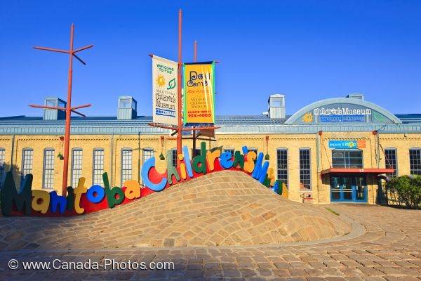 Photo: Manitoba Childrens Museum Entrance The Forks Winnipeg