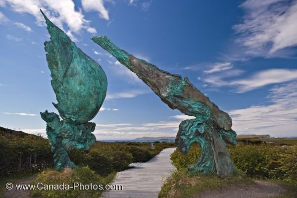 Photo: Meeting Of Two Worlds Sculpture L Anse Aux Meadows