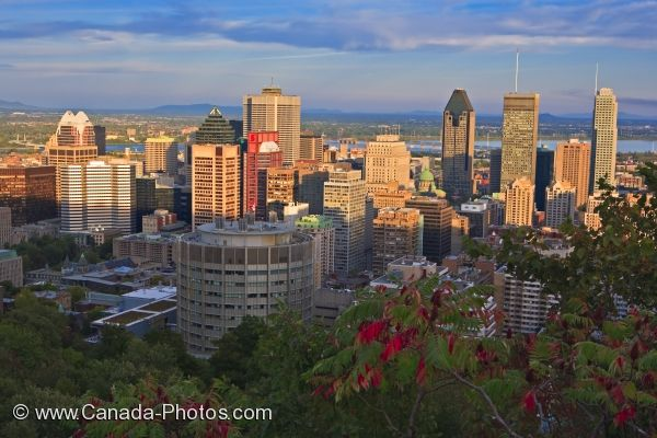 Photo: Montreal City Sunset Quebec Canada