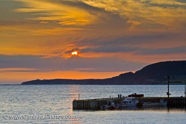 Photo: Rocky Harbour Sunset Gros Morne Newfoundland