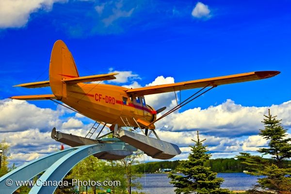 Photo: Norseman Aircraft Sits On Pedestal Red Lake