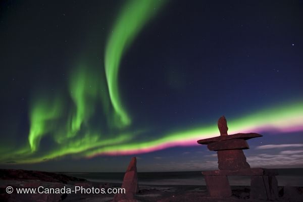 Photo: Northern Lights Inukshuk Churchill Manitoba