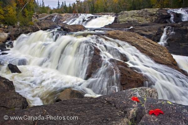 Photo: Sand River Waterfall Great Lakes Ontario