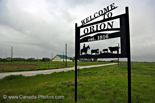 Photo: Orion Alberta Welcome Sign