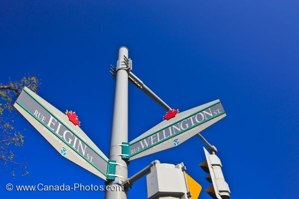 Photo: Ottawa City Street Signs Ontario Canada