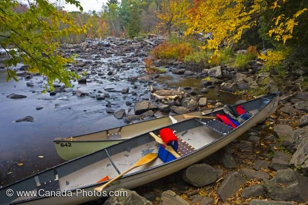 Photo: Oxtongue River Canoes Ontario Canada