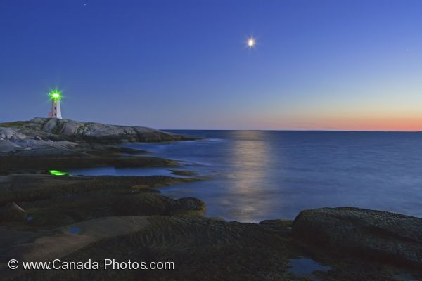 Photo: Peggys Cove Lighthouse Blue Hour St Margarets Bay