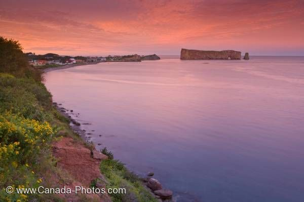 Photo: Perce Rock Sunset Gaspesie Quebec