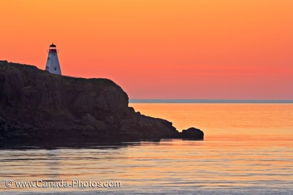 Photo: Pink Sunset Boars Head Lighthouse Long Island Nova Scotia