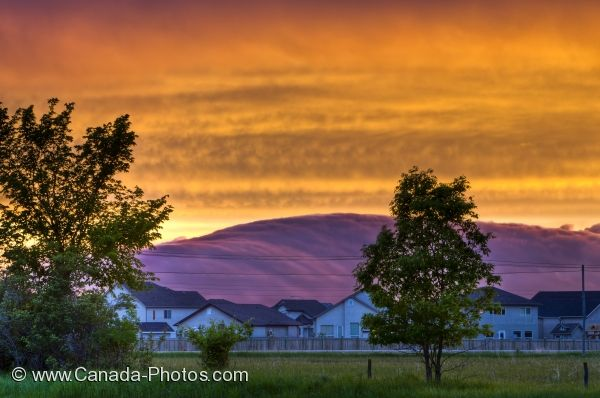 Photo: Prairie Sunset Picture Winnipeg City Manitoba Canada