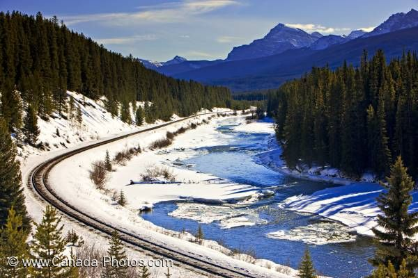 Photo: Railway Tracks Scenery Banff National Park