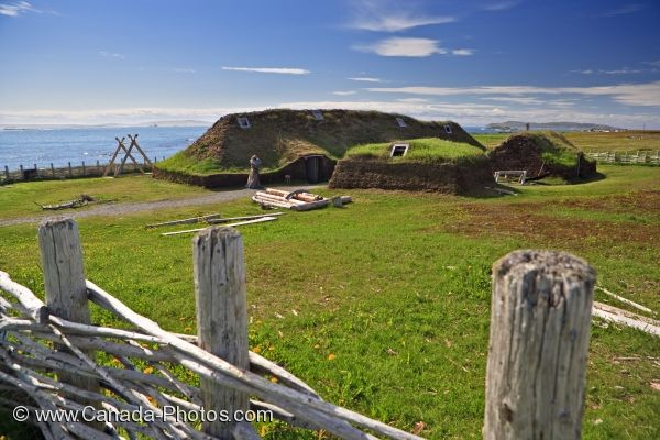 Photo: Reconstructed Long House L Anse Aux Meadows Newfoundland