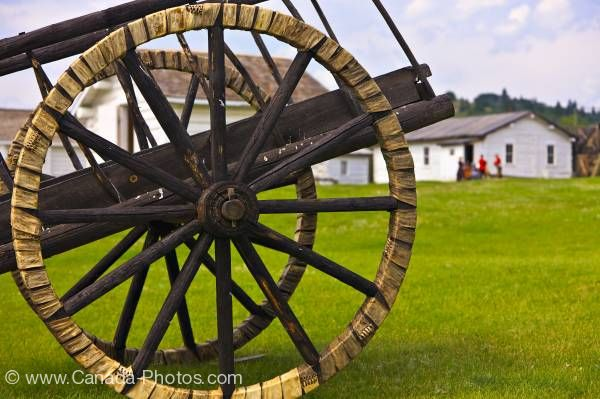 Photo: Red River Cart Spoked Wheels Fort Walsh Saskatchewan