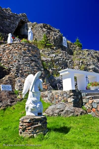 Photo: Religious Shrine Our Lady Of Lourdes Grotto Flat Rock Newfoundland