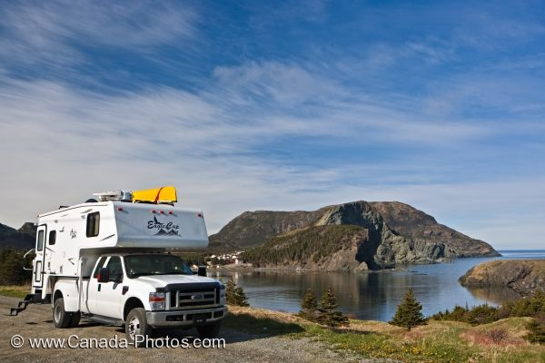 Photo: Camper Rest Stop Bottle Cove Newfoundland