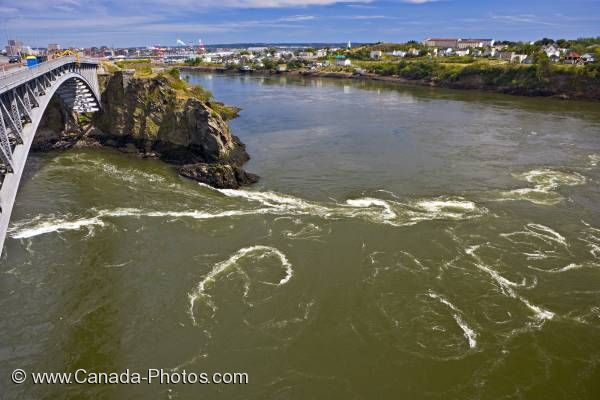 Photo: Reversing Falls Saint John River New Brunswick