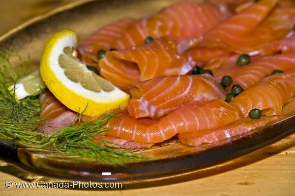 Photo: Salmon Meal Rifflin Hitch Lodge