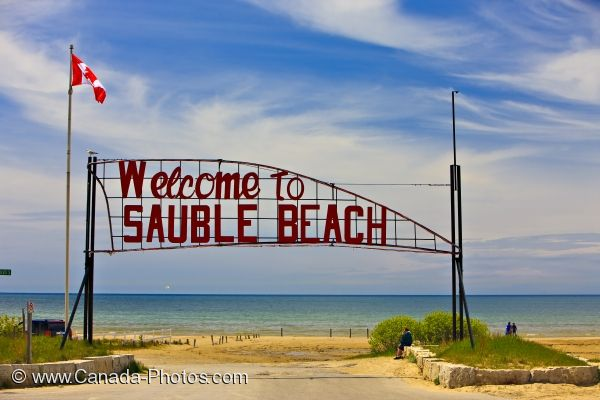 Photo: Sauble Beach Welcome Sign Lake Huron Ontario