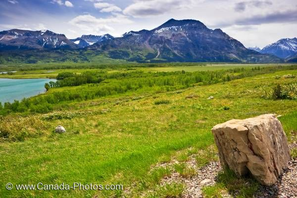 Photo: Scenic View Waterton Lakes National Park Alberta