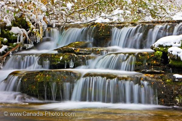Photo: Scenic Waterfall Waterton Lakes National Park