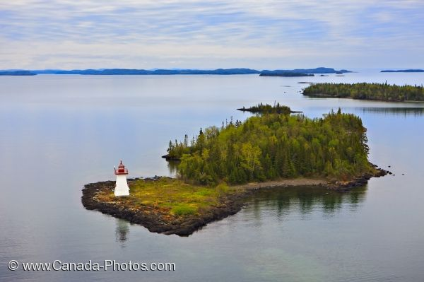 Photo: Shaganash Island Lighthouse Lake Superior