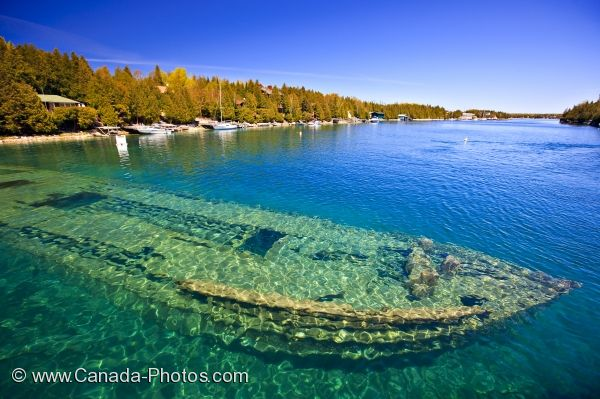Photo: Shipwreck Sweepstakes Fathom Five National Marine Park Ontario