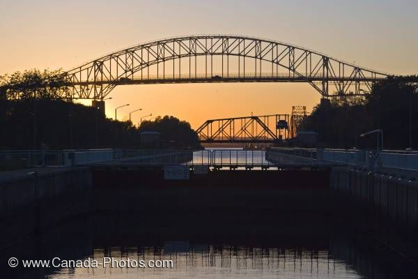 Photo: Soo Locks Sunset Sault Ste Marie Ontario