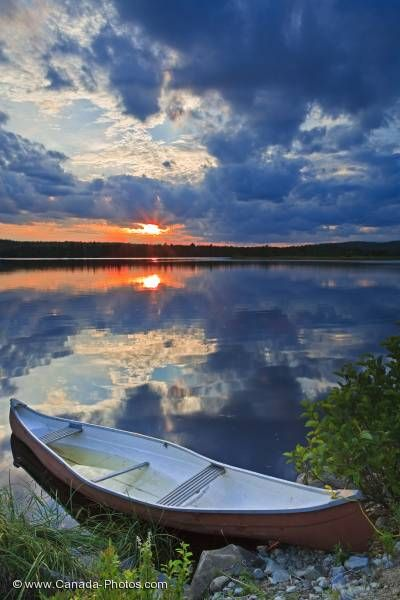 Photo: St Marys River Sunset Canoe Sherbrooke Nova Scotia