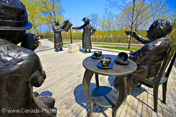 Photo: Statues of Famous Five entitled Women are Persons grounds of Parliament Hill City of Ottawa