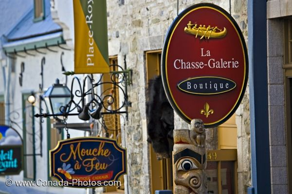 Photo: Store Signs Quartier Petite Champlain Quebec City
