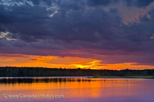 Photo: Sunset Clouds St Marys River Sherbrooke Nova Scotia