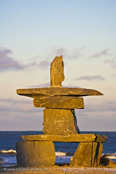 Photo: Sunset Inukshuk Hudson Bay Manitoba