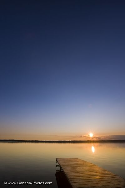 Photo: Sunset Lake Audy Wharf Riding Mountain National Park Manitoba