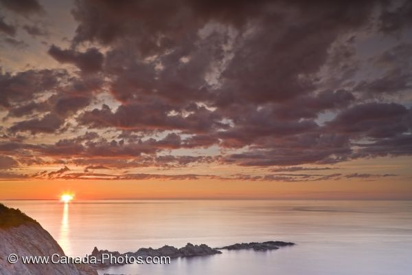Photo: Coastal Sunset Scenery Twillingate Newfoundland
