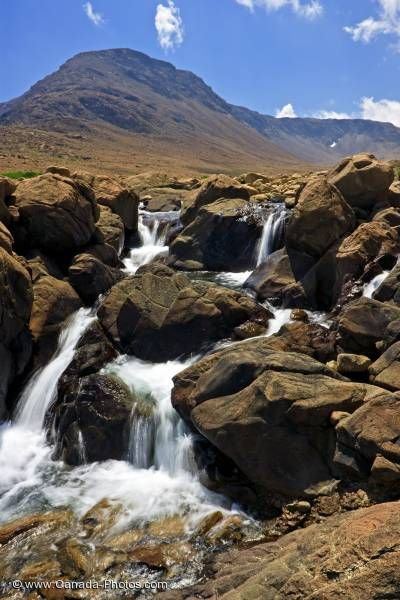 Photo: Tablelands Waterfall Gros Morne National Park