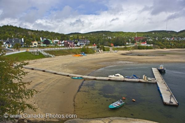 Photo: Tadoussac Waterfront Beach Marina Quebec
