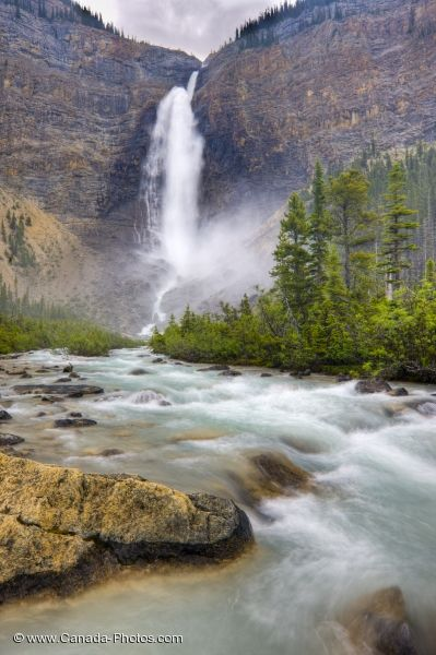 Photo: Takakkaw Falls Scenic Waterfall Yoho NP