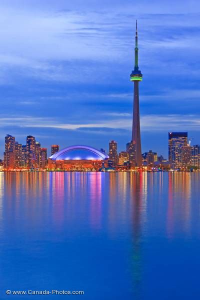 Photo: Toronto City Skyline Dusk